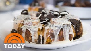 Brandi Milloy's Cookies And Cream Cinnamon Rolls, Blueberry Banana Icebox Cake Recipes | TODAY