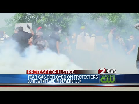 Tear Gas Deployed On Protesters In Beavercreek