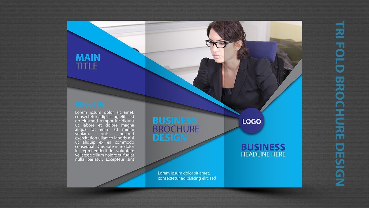 how to design a brochure in photoshop - tri fold brochure design in photoshop cc tutorial in