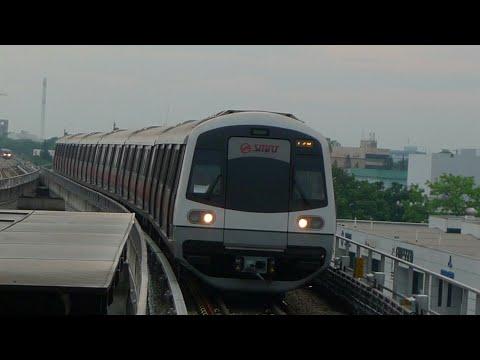 Kawasaki Heavy Industries & CSR Qingdao Sifang C151A  ride from Jurong East to Tuas Link