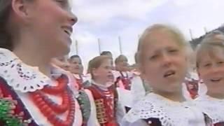 Jan Paweł II Zakopane, Wielka Krokiew 6 06 1997   spiew górali na zakończenie Mszy św