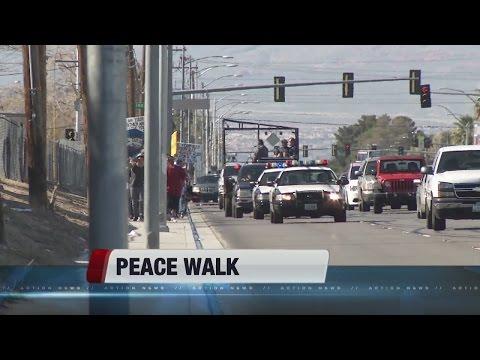 Locals participate in community Peace Walk