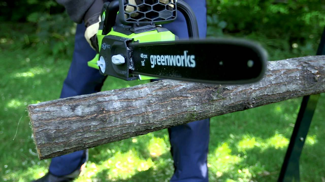 GreenWorks 40V Lithium Ion Brushless Cordless Chainsaw ...