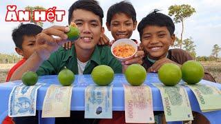 Sang Vlog -Thử Thách Ăn Chanh Nhận Tiền Thưởng Cho Trẻ Em Nghèo
