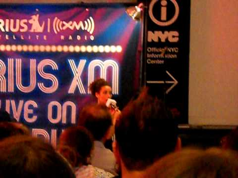 laura benanti sings a song from Swing on sirius xm live on broadway