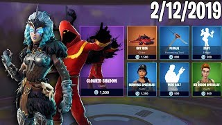 VALKYRIE & CLOAKED SHADOW ARE BACK! February 12th New Skins || Daily Fortnite Item Shop