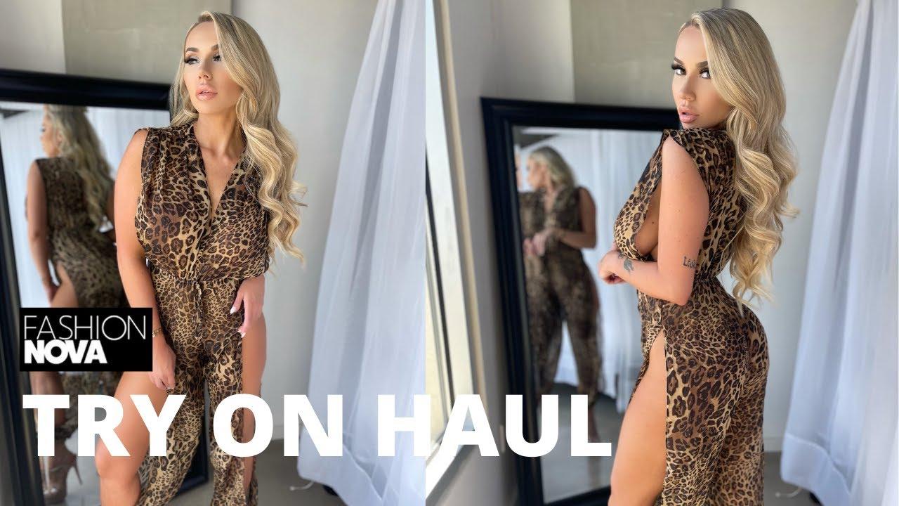 Fashion Nova Try On Haul   Summer Clothing!   Claudia Fijal