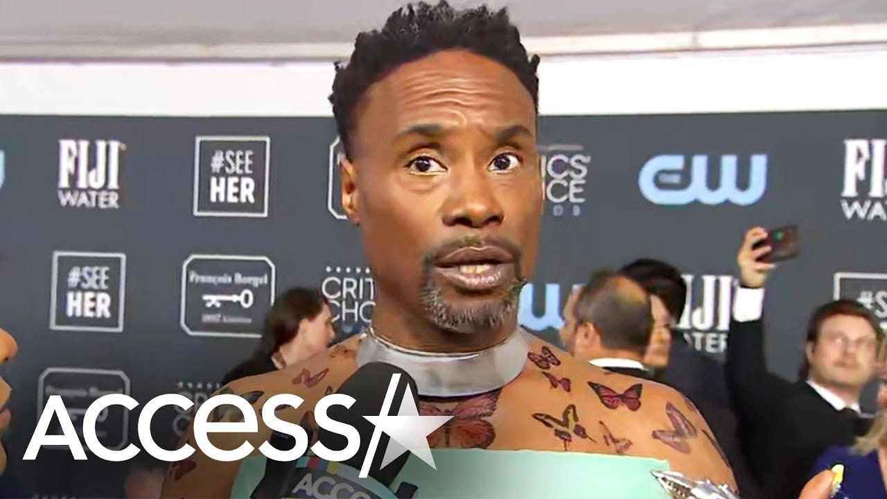 Billy Porter Reveals Special Meaning Behind Butterfly Body Art At 2020 Critics Choice Awards Gentnews
