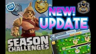 NEW UPDATE !!!Probando la nueva actu. Sockers & Miguelon. Season Challenges. Clash of Clans
