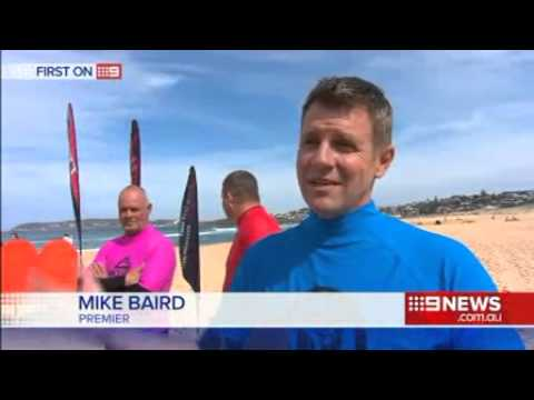 Nine News Mike Baird Surfing