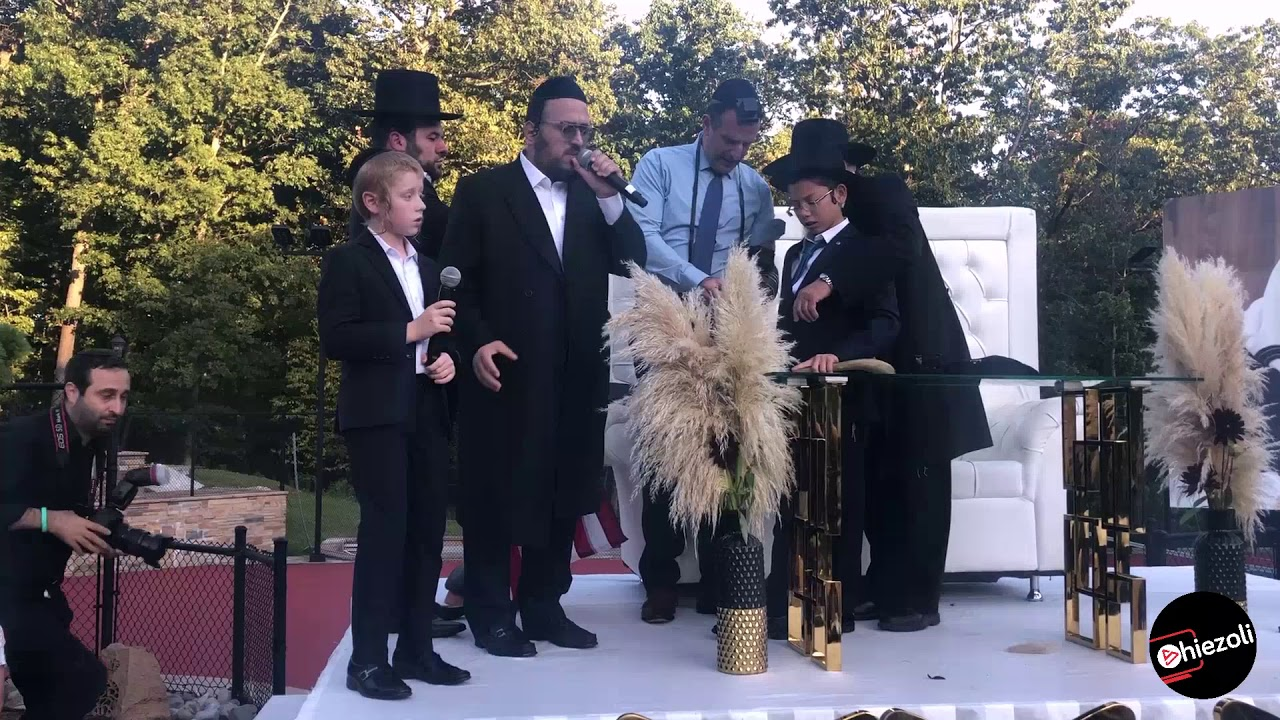 Lipa Schmeltzer and Yanky Green Pre-Bar Mitzvah for Moshe Holtzberg