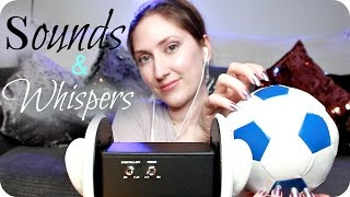 ASMR Tapping, Scratching, Brushing & Ear Cupping Triggers for Tingles ❤️ Close Up Whisper