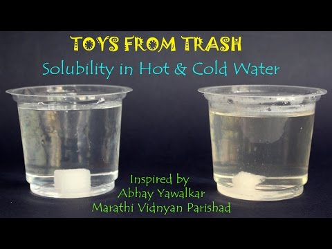 Solubility In Hot And Cold Water Marathi Youtube