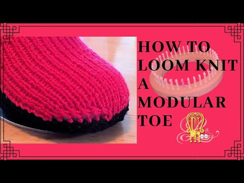 How To Loom Knit Modular Drawstring Toe Round Loom Youtube