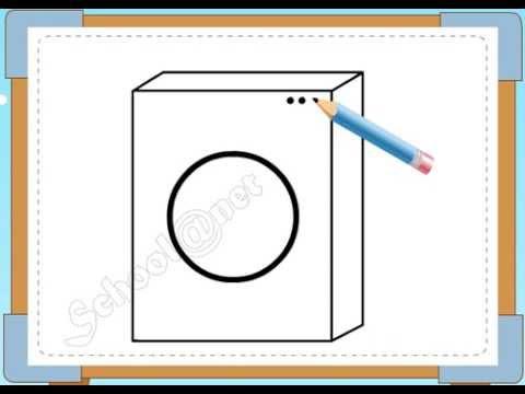 BÉ HỌA SĨ - Thực hành tập vẽ 62: Vẽ máy giặt