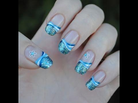 winter frost - nail art tutorial
