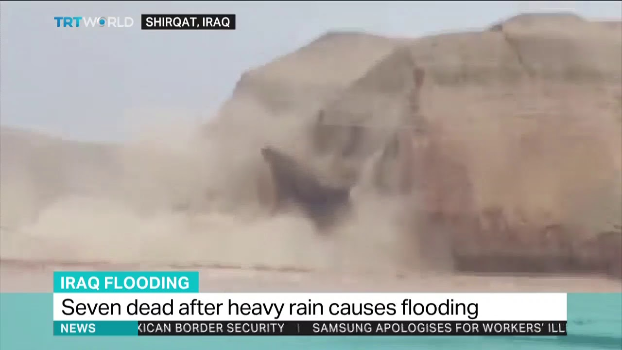 Several dead, thousands flee homes in Iraq floods