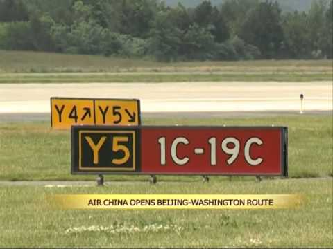 Air China opens Beijing-Washington route