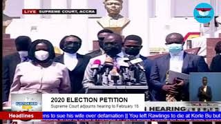 GhanaWeb TV Live: Election Petition Hearing; Monday February 15, 2021