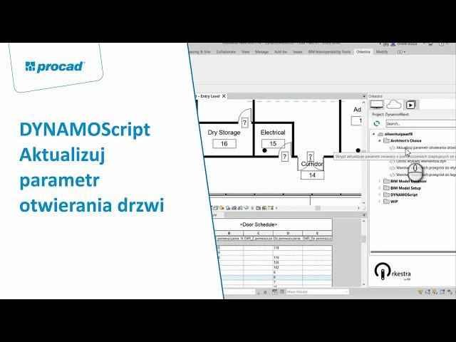 DYNAMOScript - Aktualizuj parametr otwierania drzw