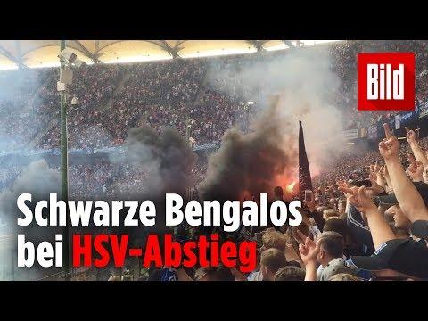 Reporter filmt die Randale beim HSV-Abstieg aus dem Block