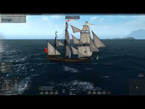 Naval Action - PvP : Trader hunting turns into small battle