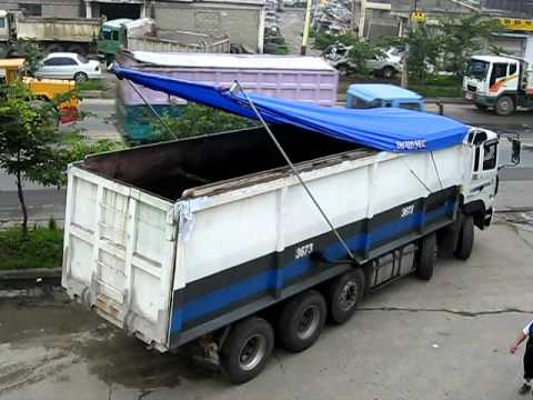 dump truck automatic tarping system youtube