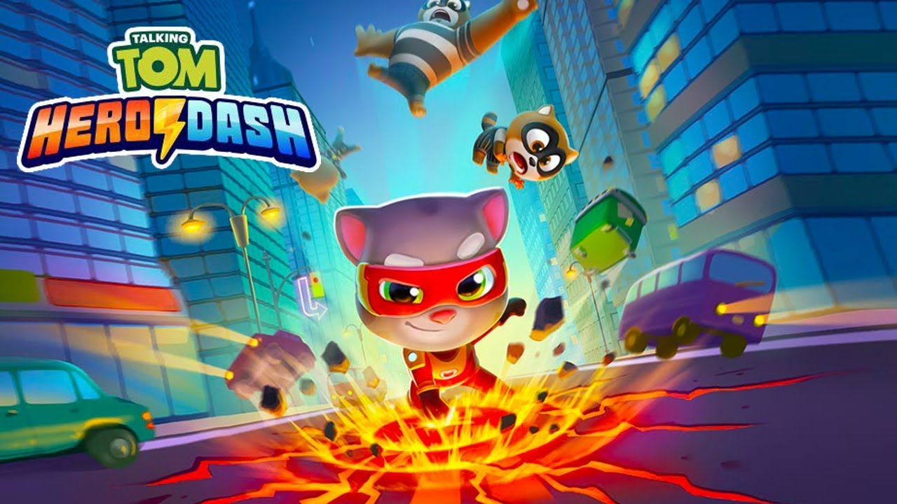 Talking Tom Hero Dash MOD APK Unlimited Gold Coins Gems