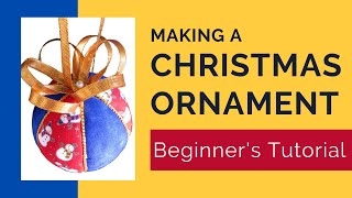 Learn to Make an Easy No Sew Christmas Ornament - Beginners Kimekomi Ornament Tutorial