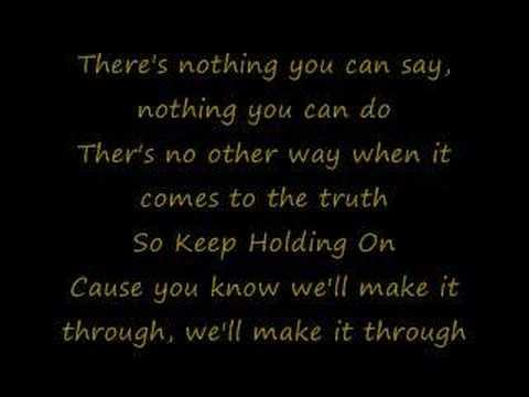 Keep Holding On - Avril Lyrics