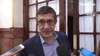 """Patxi López: """"Todos tenemos que comportarnos de manera limpia y transparente"""""""