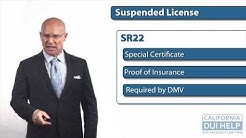 DUI California DMV: Filing the SR 22 and its Effect On Your Auto Insurance