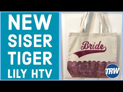 Customizing a Target Glitter Bag with Siser Tiger Lily HTV and Your Silhouette CAMEO