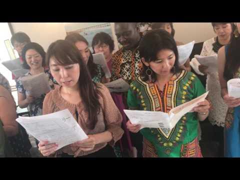 Singing national anthem of Togo in Tokyo トーゴ国歌斉唱