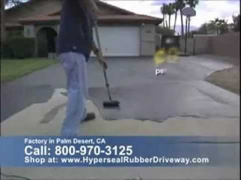 Hyperseal Rubber Parking Lot Driveway Coating Video Youtube