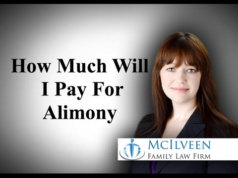 How much will I pay in alimony?