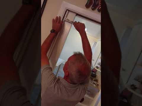Trimming, removing a pocket door