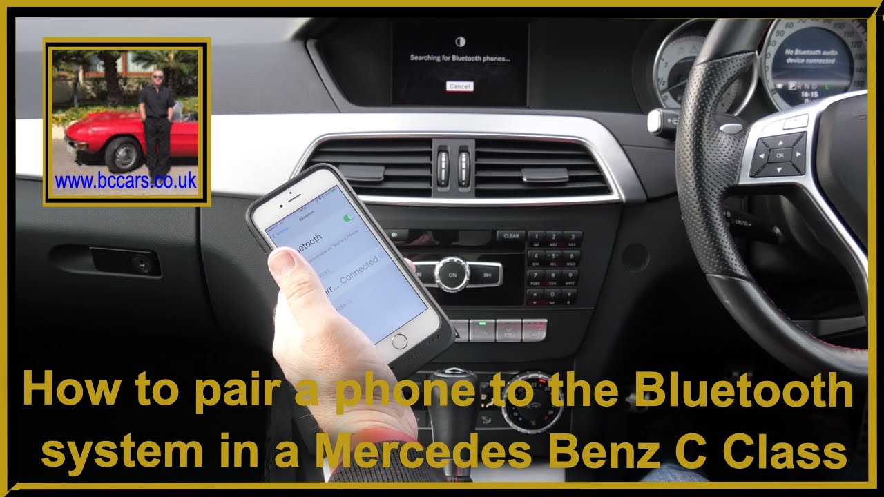 How To Pair A Phone The Bluetooth System In Mercedes Benz C Class 2 1 C220 Cdi Blue Efficiency