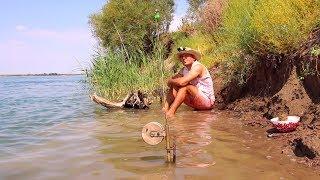 РЫБАЛКА НА ДЕДОВСКИЕ СНАСТИ. Белый амур, сазан, жерех. Шашлындос. Bushcraft. Fishing.