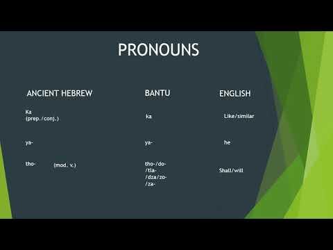 More proof Bantu language origin is undoubtedly IBERYU/Hebrew