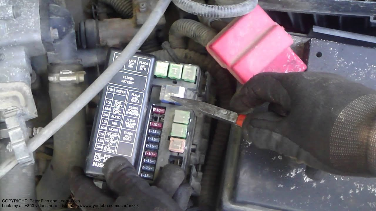 2002 Nissan Sentra Fuse Box Diagram Sets And Venn Diagrams Symbols How To Replace Primera Fuse. Also Infiniti G20 - Youtube