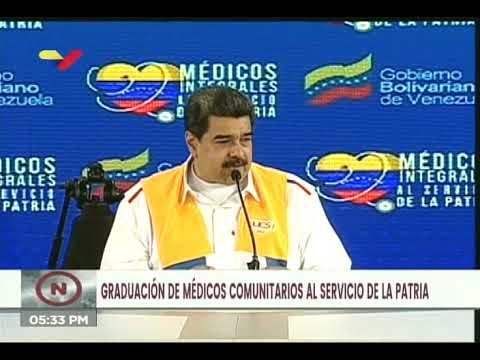 Maduro critica duramente sistema de ingreso universitario y exige aumentar estudiantes de medicina