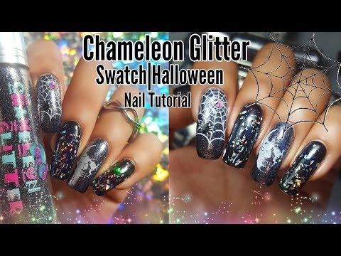 Chameleon Glitter Swatch|Halloween Nail Tutorial thumbnail