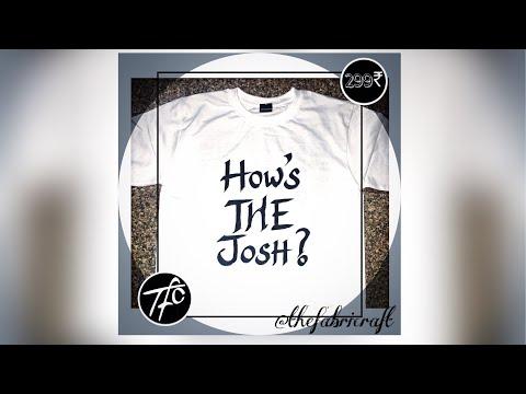 How's The Josh? URI: The Surgical Strike | TheFabricraft | #HandPaintedTshirt