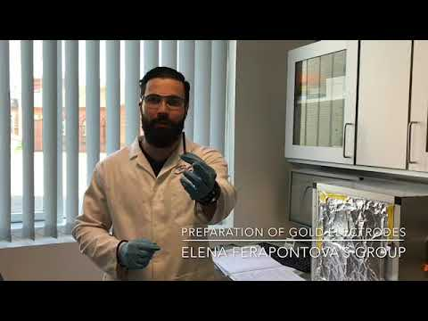 How to clean gold electrodes