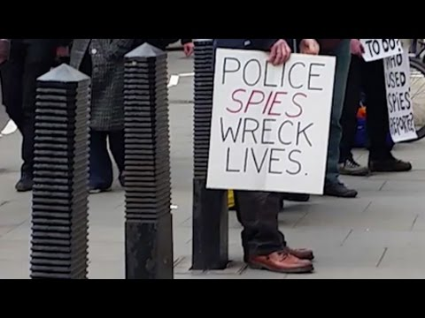 Victims of political policing demand accountability at Undercover Policing Inquiry, in London
