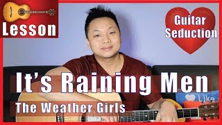 It's Raining Men - The Weather Girls Guitar Tutorial - How to Come Out of Closet with Guitar
