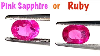 What is the difference between Pink Sapphire and a Pink Ruby? Ruby vs Pink Sapphire