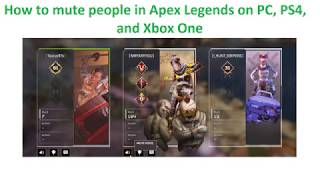 How to mute people in Apex Legends on PC, PS4, and Xbox One