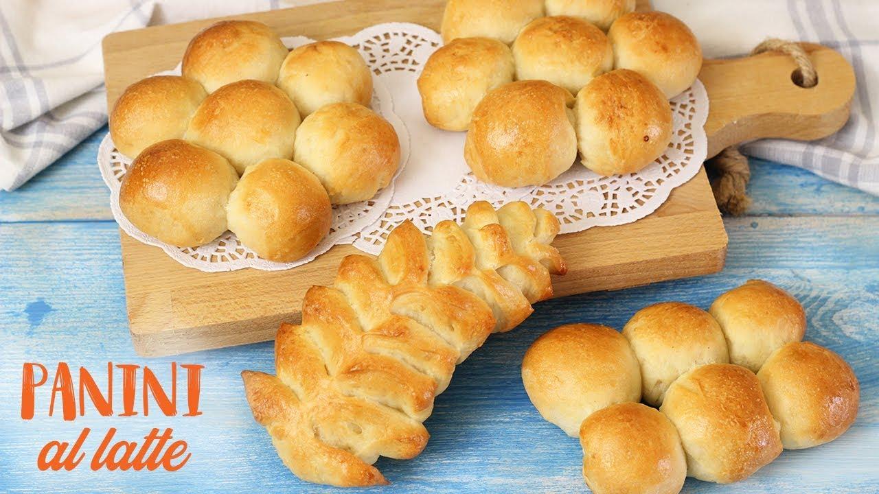 Ricetta Pane Al Latte.Panini Al Latte Soffici Ricetta Facile Spighe Al Latte Milk Bread Youtube